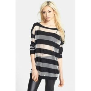 Leith Oversized Pullover Top M Medium Long Sleeve